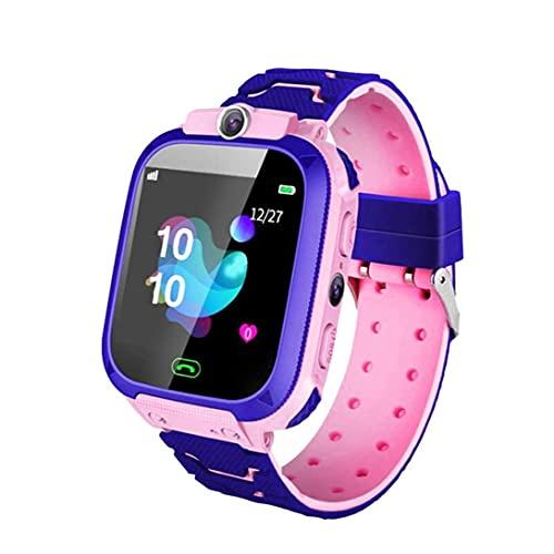 Tuimiyisou Pulsera SOS Llamada cámara SIM niños Inteligentes Reloj teléfono de Niños estanco Compatible con iOS Anroid Rosa