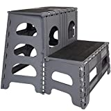 Folding/Portable Dog Steps for Large, Medium and Small Doggies - Indoor Outdoor Pet Stairs...