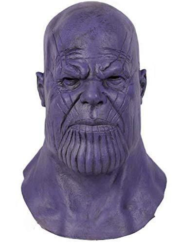 Chiefstore Thanos Mask Endgame Cosplay Casco de cabeza completa de ltex para hombres adultos Halloween Disfraces Rplica (Estilo C)