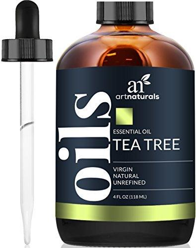 ArtNaturals Tea Tree Essential Oil 4oz - 100% Pure Oils Premium Melaleuca Therapeutic Grade Best for Acne, Skin, Hair, Nails, Face and Body Wash Aromatherapy & Diffuser