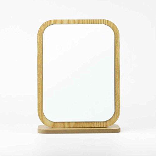 Miroirs de Maquillage de Bureau Haute liste de de Dressage en Bois de Portable portatif de Simple en Bois de Mode