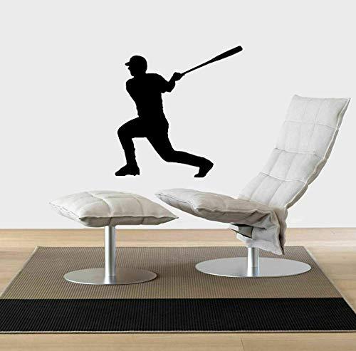 Zshhy Extreme Baseball Sport PvcWandaufkleberSitzen Wohnzimmer Schlafzimmer Küche Und Fitnessraum50 Cm * 52 Cm