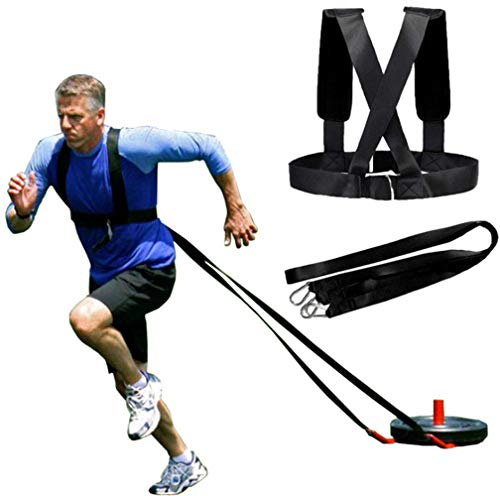 YNXing Sled Harness Workout Resistance and Assistance Trainer Physical Training Resistance Rope Kit Improving Speed, Stamina and Strength (6.6FT)