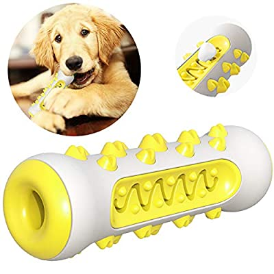FULNEW Dog Toothbrush Chew Toys Dog Teeth Cleaning Puppy Dental Care Brushing Stick Dog Chew Bones Bite Resistant for Dogs Oral Care