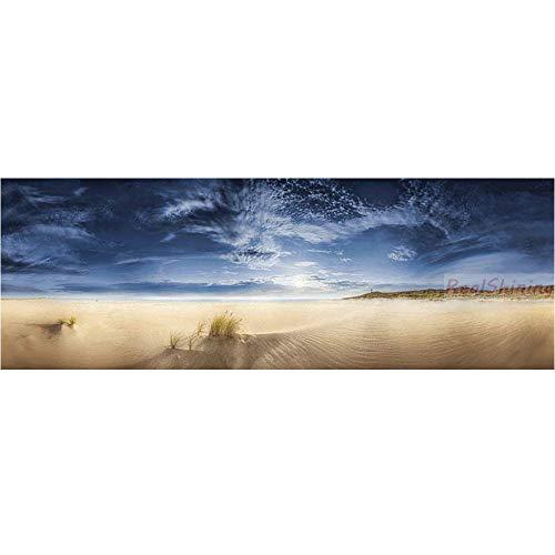 DIY 5D Pintura Diamante Bordado Kit Hermoso cielo de playa Large Diamond Painting Completo Pasta Cristal Rhinestone Punto Cruz Arte Home Pared Decor R369 Round Drill,50x100cm