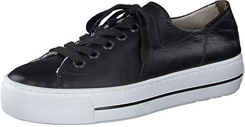 Paul Green Damen SUPER Soft Halbschuhe, Damen Low-Top Sneaker,schnürschuhe,schnürer,straßenschuhe,Freizeitschuhe,Schwarz (028),41 EU / 7.5 UK