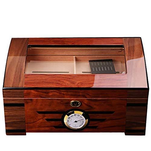 Dirgee Caja de Cigarrillos Cedar Madera Cigarro Humidor Profesional Constante Humedad Hidratación Sólido Sello de Madera Sello de Almacenamiento de cigarros
