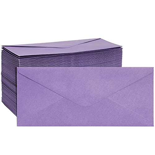 200 Pack Purple Envelopes #10 for Business, Letters, Standard Mailing, 4 1/8' x 9 1/2'