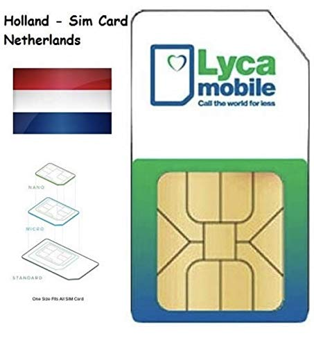 Plug & Play: Lycamobile NL Holland SIM Card Payg Prepago Lyca Mobile Netherlands incl. Roaming