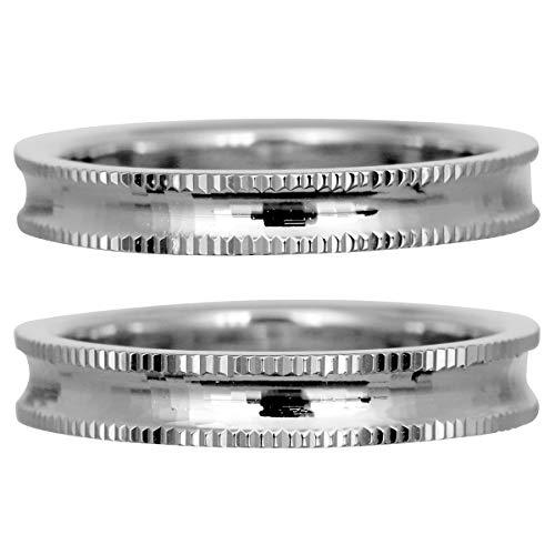 [ココカル]cococaru フルエタニティリング カットデザイン ペアリング シルバー リング2本セット マリッジリング 結婚指輪 日本製 (レディースサイズ3号 メンズサイズ10号)