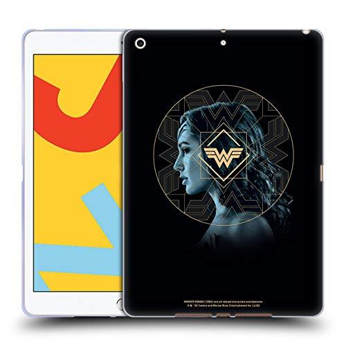Official Wonder Woman 1984 Gold Portrait Logo Art Soft Gel Case Compatible for Apple iPad 10.2 (2019)