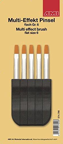 AMI 574786 - Multi-Effekt-Pinsel flach, Gr. 6 - WELTNEUHEIT!!! Ein perfektes Pinsel-Stecksystem für absolute Kreativität!