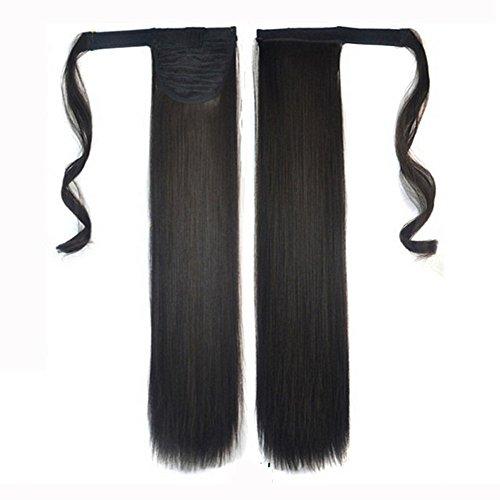 ღ Brisk-Fairy Extensions de cheveux Queue de cheval Réel Nouveau Clip Dans Perruques Cheveux Humains Extension Unisexe Droite Queue De Poney