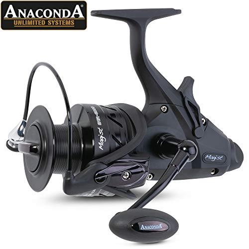 Anaconda Unisex– Erwachsene Magist BTR-6000 Karpfenrolle-Freilaufrolle zum Flussangeln auf Karpfen, Big Pit Angelrolle zum Karpfenfischen, Schwarz, Gewicht: 495g, Übersetzung: 5,1:1