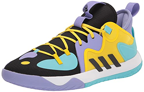 adidas Unisex Harden Stepback 2 Basketball Shoe, Black/Black/Team Yellow, 9.5 US Men
