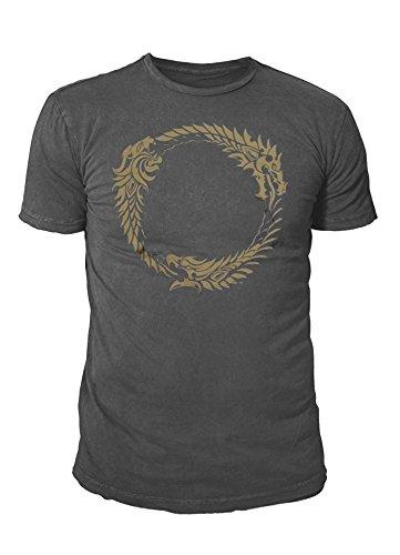 Elder Scrolls The Premium Ouroboros - Camiseta para hombre (tallas S-XL), color gris