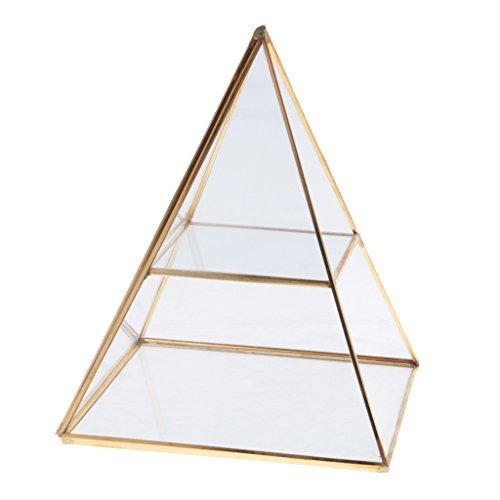 MagiDeal Boîte à Bijoux Porte-Affiche Rangement Organisateur en Pyramide en Verre - #2