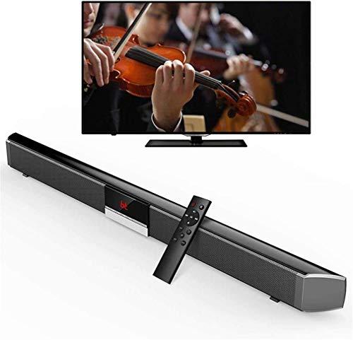 Altavoz, barra de sonido Soporte universal con control remoto por infrarrojos 4 Altavoces 40W Soporte Entrada AUX Cable RCA de fibra óptica para montar en la pared Altavoz Bluetooth inalámbrico para