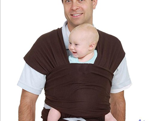 Lumière Matière extensible Porte-bébé Porte-bébé bébé Wraps, Chocolat, taille unique