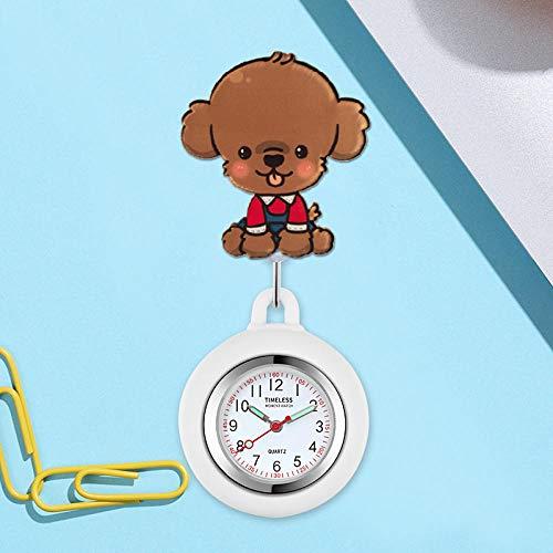 Enfermera Broche de Reloj,Puede Estirar el Hangar de la Enfermera, Mesa de Bolsillo electrónica para exámenes de niños-KK,Reloj Broche Bolsillo Enfermeras