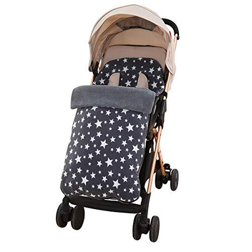 SONARIN Universal Premium Fußsack für Kinderwagen,weicher Deluxe-Thermo-Fleece,Cosy Toes,für Jogger, Buggy(Grau)