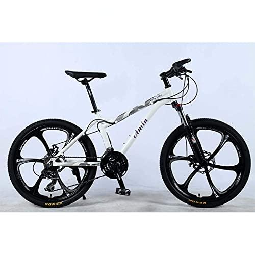 Bicicleta de montaña de 24 pulgadas y 24 velocidades para adultos, marco completo de aleación de aluminio liviano, suspensión delantera de rueda, bicicleta para adultos con cambio de estudiantes todot