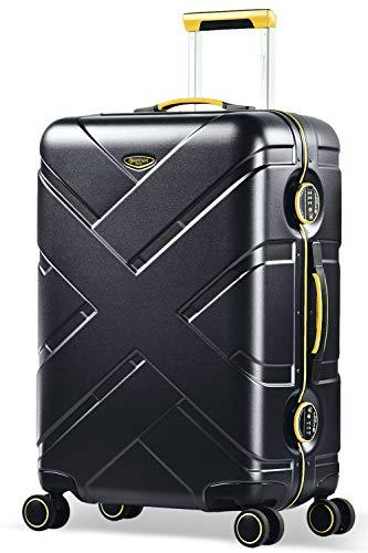 Eminent Koffer Gold Crossover M 65cm 66L Aluminiumrahmen 4 Doppelrollen 360° TSA Schloss...
