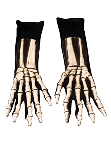 Zagone Studios Men's Skeleton Gloves, Gray, Adult One Size
