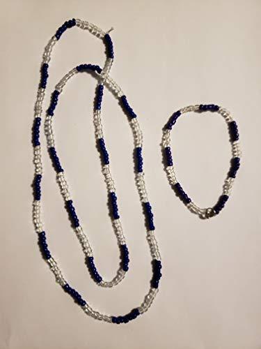 YEMAYA Santeria Bead Necklace (Eleke) & Bracelet (Ilde) Set