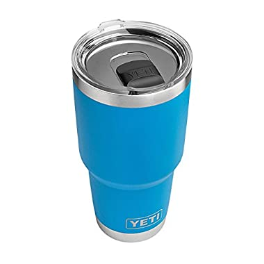 YETI Rambler 30 oz Stainless Steel Vacuum Insulated Tumbler w/ MagSlider Lid, Tahoe Blue