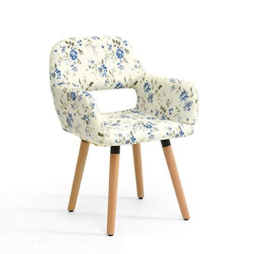 LJZslhei Stuhl Massivholz Stuhl Einfache Moderne Computer Stuhl Kreative Zurück Schreibtisch Stuhl Freizeit Stuhl Esszimmer Stuhl Blume Muster