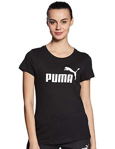 PUMA Damen ESS Logo Tee T-Shirt, Dark Gray Heather, XS