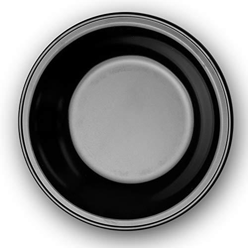 Garnet Plato Hondo Negro de melamina Gramos – Altura Plástico Resistente a los arañazos, a Las temperaturas – Fabricado en Italia 100% – 1 Pieza, Ø 220 mm 230 grammi Altezza 35 mm