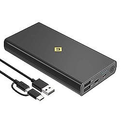 cheap Portable USB C Charger 20000mAh Power Bank, 4 USB Ports External Battery Phone Fast Charging …
