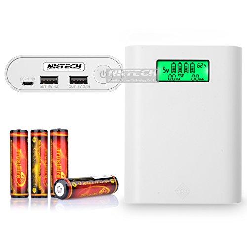 nktech e3s LCD externa Power Bank 18650 caja de batería USB