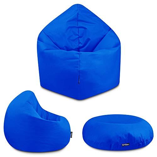 2in1 Sitzsack Bodenkissen Outdoor Sitzsäcke Indoor Beanbag in 32 Farben & 3 Größen wählbar Sitzkissen Kinder Yoga Kissen Erwachsene Schule Kindergarten (Blau-100 cm)