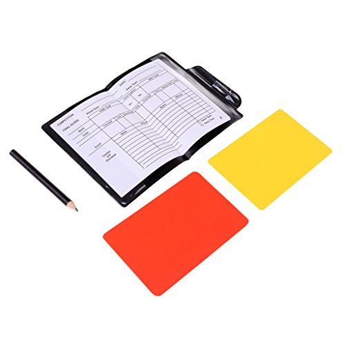 T TOOYFUL Libro di Matita della Carta Gialla di Cartellino Rosso di Calcio del Portafoglio del Arbitro Dell'arbitro Professionale