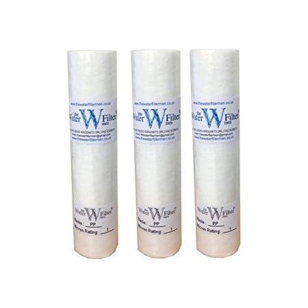 """The Water Filtre Hommes 3x10 """"PP (1Mic) PP Sédiment 1 Mic MIC Sédiment Particule Osmose inverse Osmose Cartouche de filtre à eau, 1 micron, 10"""", paquet de 3"""
