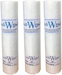 """The Water Filtre Hommes 3x10 """"PP (1Mic) PP Sédiment 1 Mic MIC Sédiment Particule Osmose inverse Osmose Cartouche de f..."""