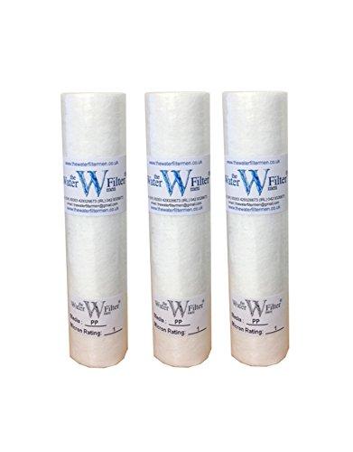 Cartuchos PP 1m, filtro de agua de sedimentos, 10' 1micras (pack de 3)