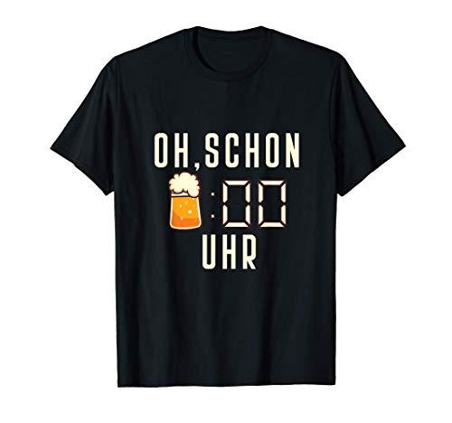 Herren Lustiger Bier Saufen Vatertag Männer I Oh schon Bier Uhr T-Shirt
