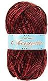 Hilo de chenilla aterciopelada para Tejer Punto Crochet o Ganchillo CHEVIOTTE de TORRIJO 85g (1 unidad * 85g)   Color 2626-GRANATE