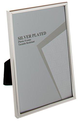 Unity Viceni - Marco para fotos con borde fino, bañado en plata (10 x 15 cm)