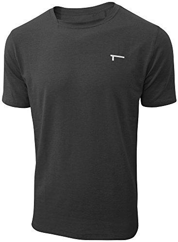 TREN Herren COOL Performance Cotton Stretch SS Tee T-Shirt Kurzarm Schwarz 001 - L