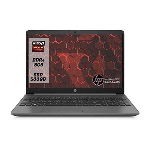 "HP 255 G7 SSD Notebook PC, Display da 15.6"", Cpu Amd A4, fino a 2,60 GHz Burst Mode 8 GB DDR4 , SSD m.2 500GB, Bluetooth, WIFI, Dvd-Cd rw,[Layout Italiano] Win10 Pro Pronto All'uso"