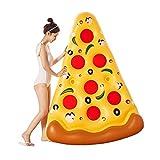 XBSXP Flotador Inflable Gigante para Piscina de Rebanada de Pizza, piña Inflable Gigante, Rebanada de Pizza, Asiento Flotante para Piscina Tipo Donut para niños y Adultos (Color: Amarill