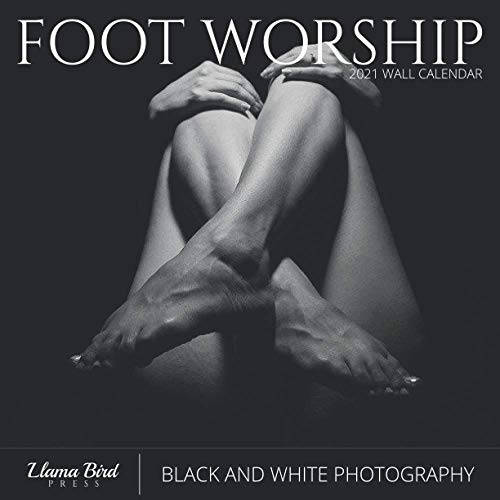 Foot Worship 2021 Wall Calendar: Black and White Photography, Pretty Feet, 8.5 x 8.5, Monthly Calendar Planner for Home Office School