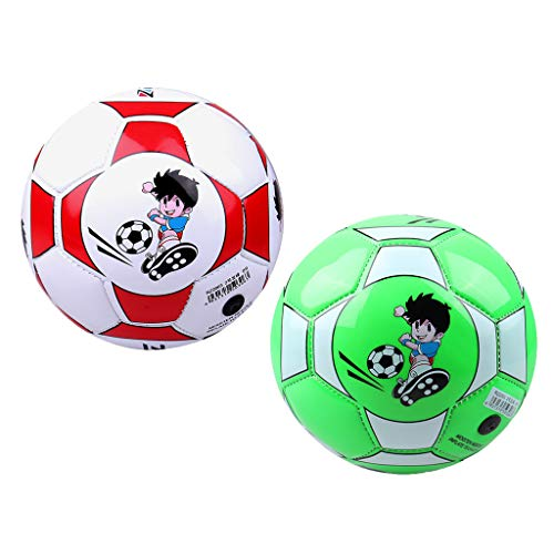 Kloware 2X Soccer Ball Size 2 Soccer Training Play Soft Ball
