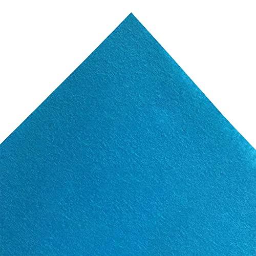 JUANJAUN Hoja de Tela de Fieltro Suave de 4 mm de Espesor, Telas Textiles para Manualidades DIY, Mantel de póquer para Cubierta de Mesa de Juego(Size:4mm,Color:No. 12 Light Blue)