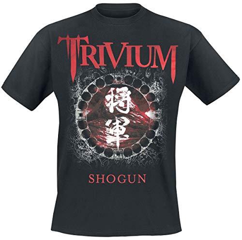 Trivium Shogun Homme T-Shirt Manches Courtes Noir XL, 100% Coton, Regular/Coupe Standard